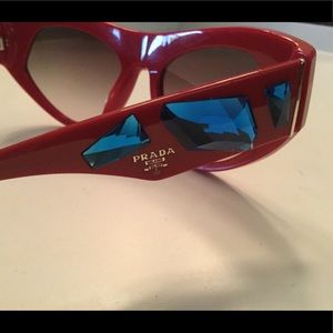PRADA VOICE EMBELLISHED SUNGLASSES RED PRE-OWNED